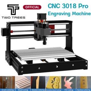 Twotrees – Machine à graver au Laser 3018 Pro, outil de bricolage domestique Portable, imprimante 3D en plastique et métal, panneau en bois acrylique PVC 1