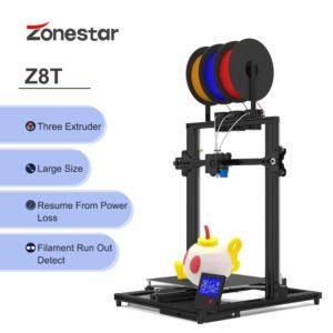 Zonestar Z8T – imprimante 3D, haute précision, Super silencieuse, facile à installer, 3 en 1, Extrusion automatique, mélange de couleurs 1