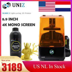 Uniz Slash2 – imprimante 3D de haute précision, impression 3D 4K Monochrome LCD, polymérisation de la lumière, bijoux dentaires, éducation, etc, en Stock 1