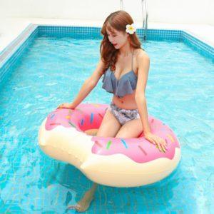Anneau de natation gonflable Donut, piscine géante, flotteur d'été, activités de plein air, fête à la plage, matelas gonflable 1