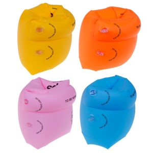 2 paires (4 pièces) Portable PVC Gonflable Brassards Aide Enfants Flotteurs anneaux De Natation Brassards Gonflables De Bain de Sécurité Anneaux D'eau 1