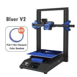 Twotrees – imprimante 3D Bluer V2, lecteur muet, verre TMC2208, alimentation électrique, reprise d'impression, 24V, kit d'extrudeuse BMG, tendeur XY 1