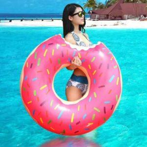 Anneau de natation gonflable Donut, matelas de piscine en caoutchouc, jouets de siège d'eau, bouée de piscine, jouet flottant 1