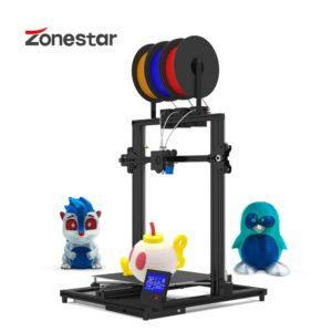 ZONESTAR couleur FDM grande taille 3 extrudeuses 3-en-1-OUT mélange couleur haute précision résolution facile installer imprimante 3D Kit de bricolage Z8T 1
