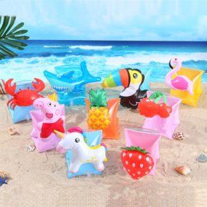 Anneau de bras de natation gonflable pour enfants, flotteurs pour bébés, piscine à main, sécurité, Flamingo 1