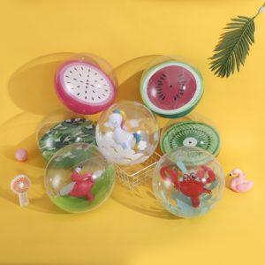 30cm ballon de plage gonflable licorne flamant piscine jouets flotteur anneau de bain jouet piscine fête ballons d'eau volley-Ball sport jouet balle 1