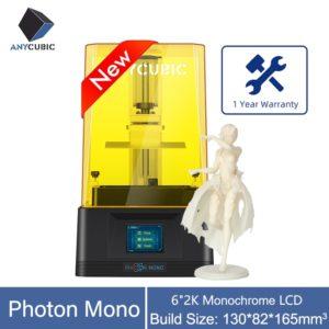 2020 nouvelle imprimante Photon Mono 3D anycubique 6''2K Monochrome LCD 8x anti-aliasage UV résine imprimante vitesse d'impression rapide Impresora 3d 1