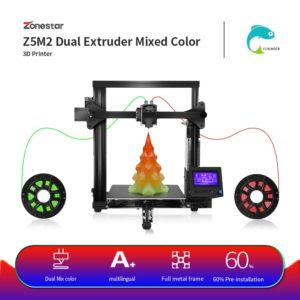 ZONESTAR – imprimante 3D classique à double extrudeuse, mélange de couleurs, assemblage rapide et facile, haute précision, entièrement en métal et aluminium 1