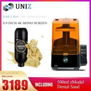 UNIZ Slash2 Plus – imprimante 3D, impression haute vitesse et haute précision pour couverture dentaire professionnelle, tous les scénarios d'application dentaire 1