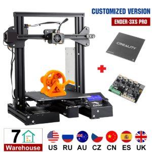 Version personnalisée Ender-3Xs Pro imprimante 3D avec autocollant amovible magnétique/Plate-forme de plaque de verre/V1.1.5 carte mère Super silencieuse 1