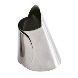 Protège-doigts ajustable en acier inoxydable, 2 pièces, gadget de cuisine de haute qualité, outils de Protection 1