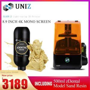 Uniz Slash 2 – imprimantes 3d professionnelles à écran tactile LCD, haute précision, vitesse plus rapide 1