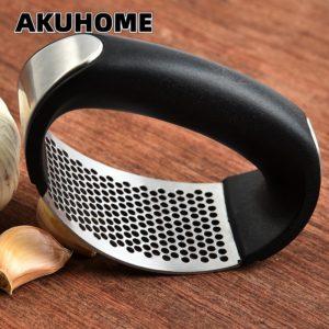 Presse-ail Manuel Hachoir À L'ail Hacher Ail Outils De Cuisine par moler ajo tenu dans la main presse Akuhome 1