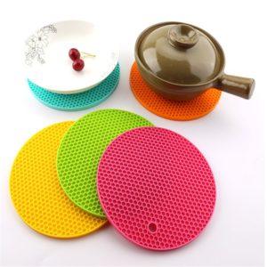 Set de Table antidérapant isolant en Silicone, set de Table, ustensile de cuisine, tapis dessous de verre résistant à la chaleur, Gadgets de cuisine 1