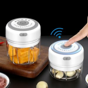 Presse-ail électrique, broyeur de cuisine USB, Gadgets portables 100/250ml, presse-ail, pour légumes, Chili, viande, hachoir 1