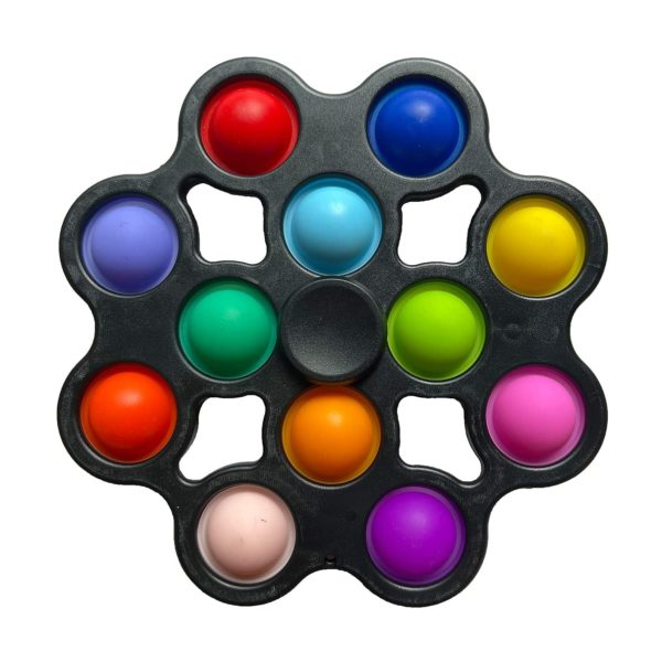 Pop It – Mini-fossette anti-stress, jouets sensoriels à Rotation, variateur simple, Kit de jouets éducatifs précoces, Pop It Squishy 1
