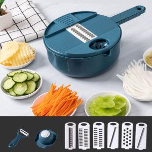 Râpe à légumes multifonction pour carottes, pommes de terre, râpe pour la cuisine, Gadgets presse-ail, 12 pièces 1