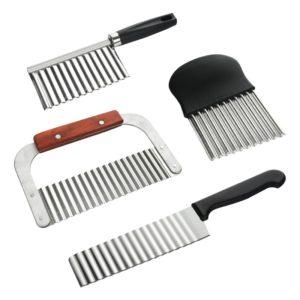 Trancheur de pommes de terre en acier inoxydable, pâte, légumes, fruits, couteau ondulé, coupe-pommes de terre, hachoir, Gadget 1