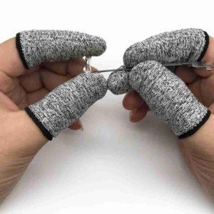 Protège-doigts anti-coupures pour couper les légumes, protection des doigts, gants, Gadgets de cuisine à domicile, 2 pièces 1