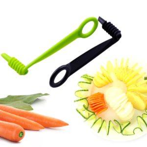1 ensemble De Coupe-Spirale Concombre Trancheuse Cuisine Accessoires Spiraliseur de Légumes Coupe de Pommes De Terre En Spirale Trancheuse Cuisine Gadgets 1