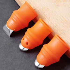 Protège-doigts en Silicone avec lame pour Fruits et légumes, protège-doigts, Gadgets de cuisine, accessoires de cuisine, 1 pièce 1