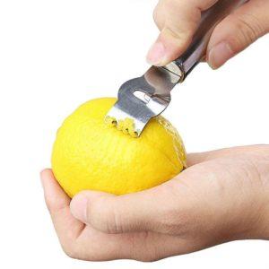 Râpe à citron en acier inoxydable, ustensile de cuisine, râpe à Orange et à fruits, couteau à éplucher, accessoires de cuisine 1