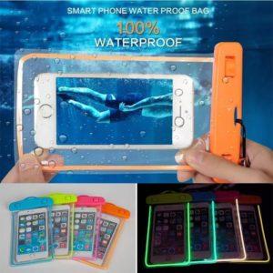 Pochette étanche et lumineuse pour téléphone, gadget, natation, plage, sec, 6 pouces, sac, iPhone modèles 11, Pro, Xs, Max, XR, 8, 7, Samsung modèles S9 1