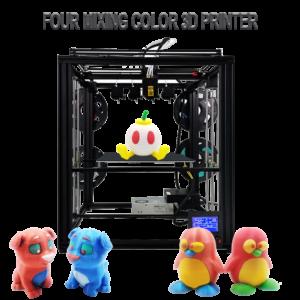 ZONESTAR – imprimante 3d FDM Z9M4, 4 extrudeuses, multicolore, grande taille, mélange de couleurs, cadre 4 en 1, structure CoreXY, nivellement automatique 1