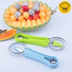 Plateau à fruits couteau à découper cuillère à Melon cuillère à glace cuillère à pastèque cuisine bricolage plats froids Gadgets trancheuse outils coupe-nourriture 1