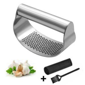Presse à ail manuelle en acier inoxydable, courbe, hachoir, presse à ail multifonctionnel, Gadgets de cuisine 1