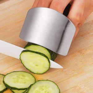 Protège-doigts en acier inoxydable, couteau de protection des doigts, utilisation sûre, Gadgets de cuisine créatifs, accessoires 1