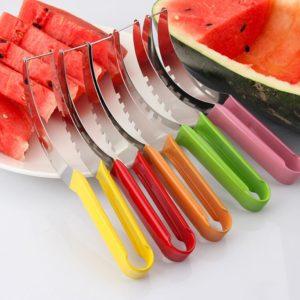Trancheur de pastèque en acier inoxydable, couteau de coupe, carottier fruits et légumes, couteau de coupe de Melons, Gadgets de cuisine, accessoires 2021 1