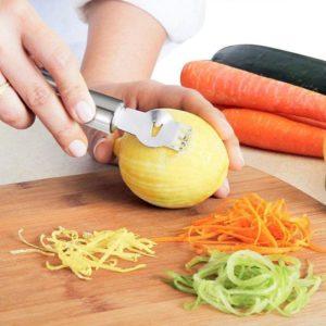 Râpe à citron en acier inoxydable, râpe à citron, Orange, citron vert, agrumes, couteau à éplucher, Gadgets de cuisine, 1 pièces 1