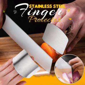 Protège-doigts en acier inoxydable pour couper les légumes, protège vos doigts, évite les coupures, Gadgets de cuisine, accessoires 1