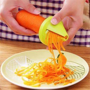 Râpe à spirale multifonction manuelle, éplucheur à spirale, pour légumes, fruits, pommes de terre, carottes, radis, Gadgets de cuisine 1