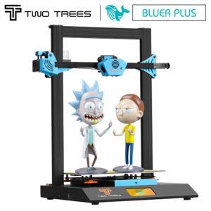 Twotrees – imprimante 3D Bluer Plus PEI BMG TMC2209, mise à niveau I3, écran tactile magnétique, masques d'impression, reprise en cas de panne de courant, double axe Z 1