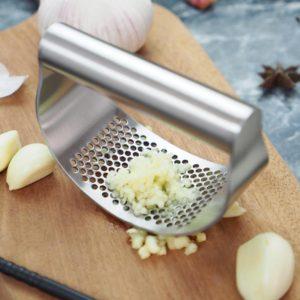 Presse à ail Portable en acier inoxydable, outils de hachage manuel, courbe fruits légumes outils de cuisine Gadgets à économie d'énergie 1