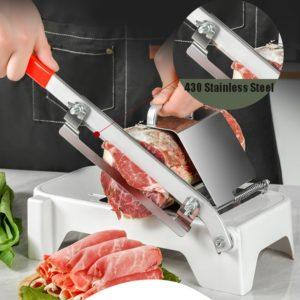 Trancheuse à viande et légumes en alliage et acier inoxydable, outils de cuisine, ménage, épaisseur manuelle réglable, Gadget 1