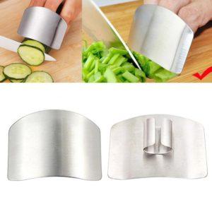 Protège-doigts en acier inoxydable pour couper les légumes, protection des doigts pour couper les légumes, couteau, utilisation sûre, Gadgets de cuisine créatifs 1