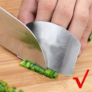 Protège-doigts en acier inoxydable, couteau de protection des doigts, utilisation sûre, produits de cuisine créatifs, Gadgets outils 1