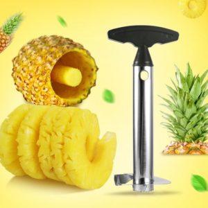 Trancheur de fruits en acier inoxydable, outils de cuisine 3 en 1 éplucheur de pommes de pin, trancheur de fruits, Gadget d'ustensiles de cuisine 1
