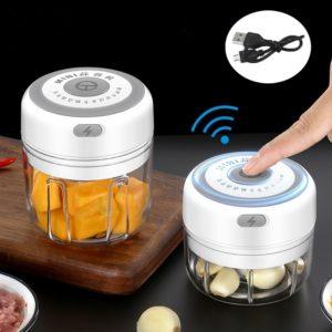 Presse-ail électrique USB, 100/250ml, pour légumes, Chili, viande, hachoir, gadget de cuisine 1