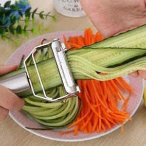 Râpe à légumes en acier inoxydable, accessoires de cuisine, Gadget pour éplucher les légumes et les pommes de terre 1