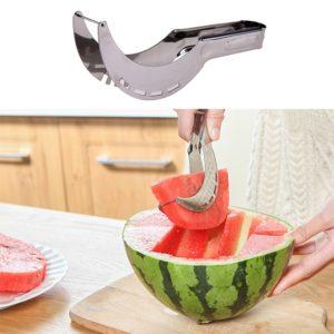 Trancheur de pastèque en acier inoxydable, couteau de coupe, carottier fruits et légumes, outils de cuisine, Gadgets outils de fruits, artefact de coupe 1