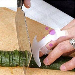 Protège-doigts anti-coupures, Gadgets de cuisine, conception de sécurité, couteau alimentaire, repose-paume à légumes, protège-mains, 1 pièce 1