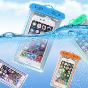 Pochette d'été étanche et lumineuse pour téléphone, sac de plage, pour gadget, natation, étui, ski, camping, support pour portable, 3,5, 6 pouces 1