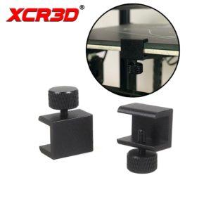 XCR3D – pièces d'imprimante 3D, 2 pièces, pince de plaque en verre, Plate-forme de construction, lit chauffant, support Hotbed, Clip fixe réglable pour Ender 3 1