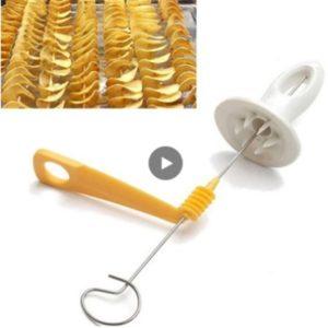Trancheur de fruits en spirale, tour de pommes de terre, trancheur de fruits en spirale, outil de coupe manuel, Gadgets de cuisine faciles à nettoyer 1