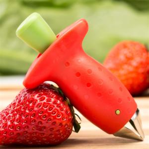 1 pièces De Fruits De Cuisine Gadget Outils Trancheuse De Fraise De Coupe Fraise Corer Fraise Huller Tige de Feuille De Décapant 1