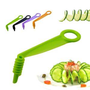 Trancheur à main lame en spirale, couteau en spirale pour concombre, pommes de terre, carottes et légumes, Gadgets de cuisine et ensembles d'accessoires 1 pièce 1